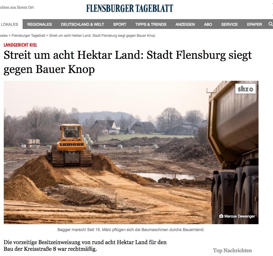 Stadt Flensburg siegt gegen Bauer Knop
